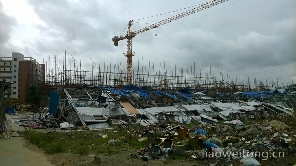 2015湛江台风彩虹,板房倾覆